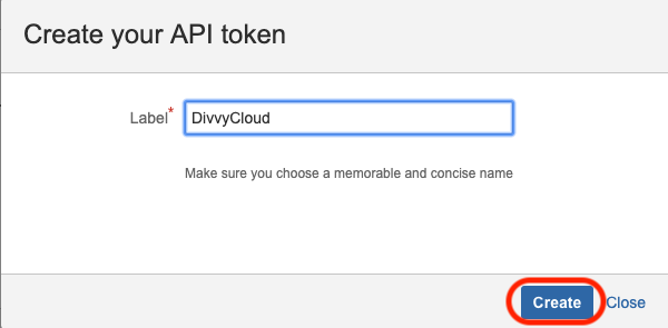 Name your API Token