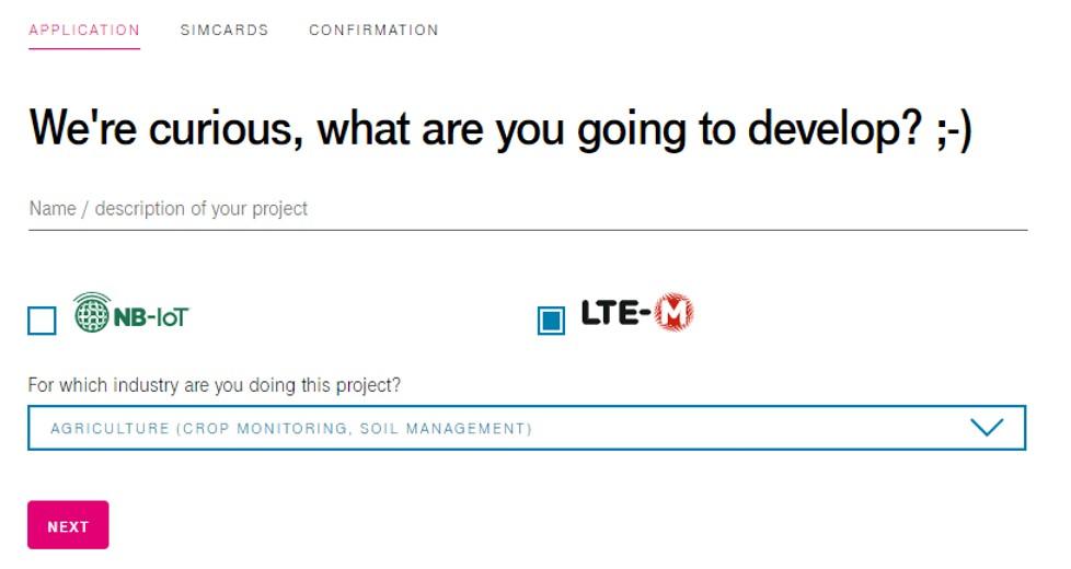 Create LTE-M starterkit project