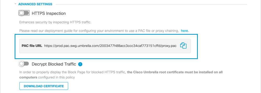 Deploy Umbrella's PAC File for Windows