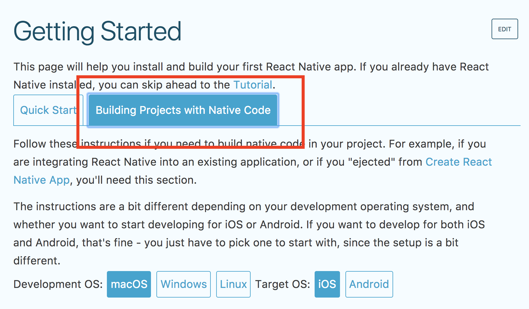 React Native (unmaintained)