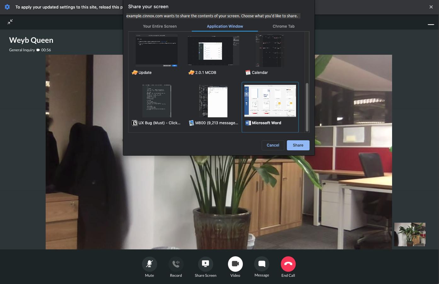 Chrome - Screen Sharing
