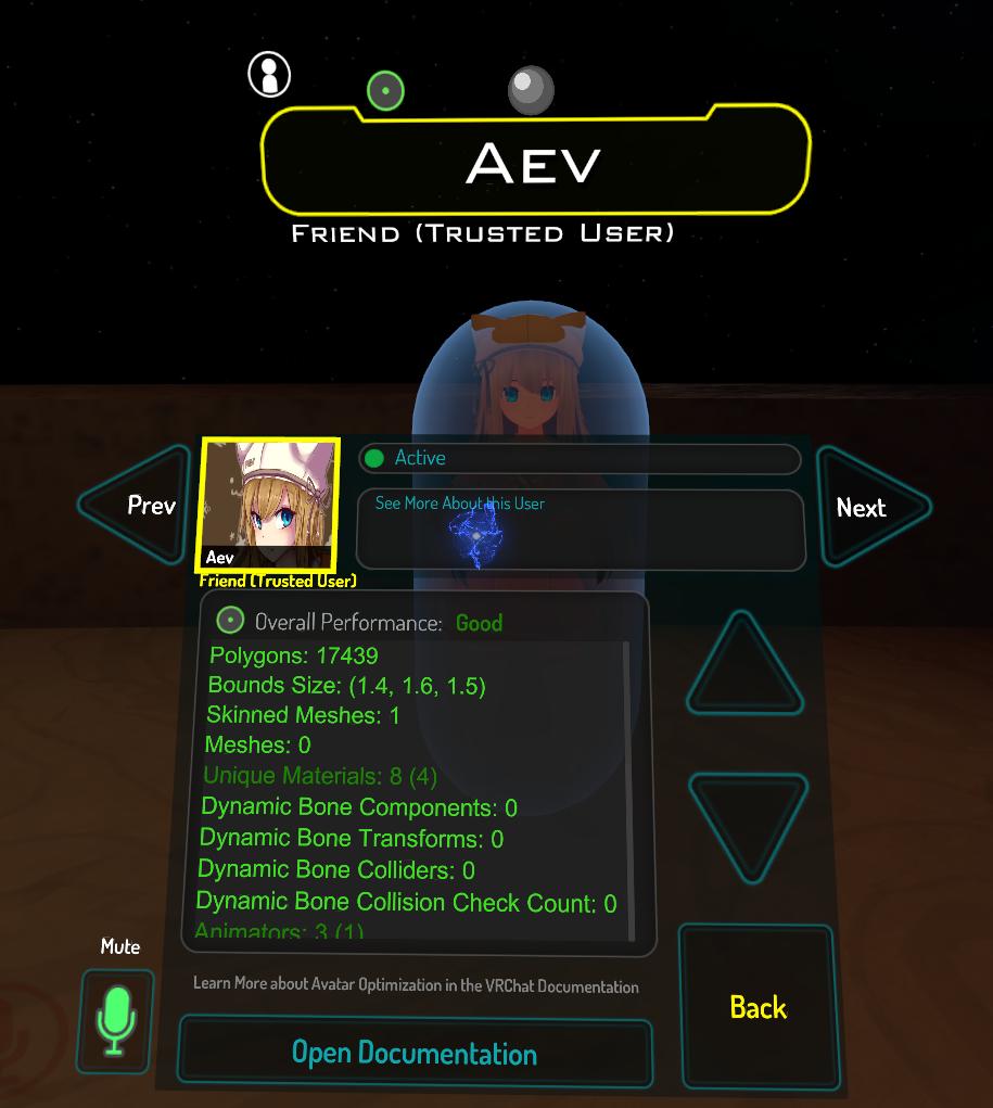 Avatar Performance Ranking System