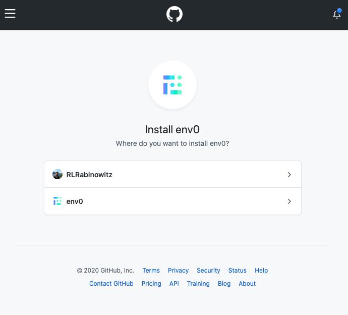 Pick GitHub Organization