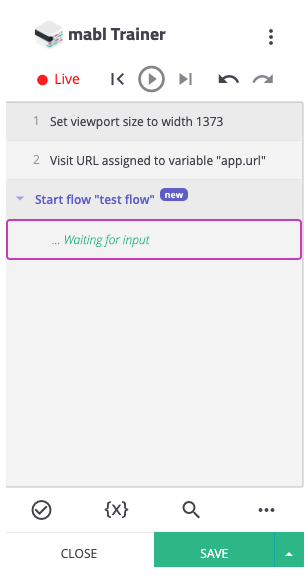 updated new trainer screen shot for start of flow