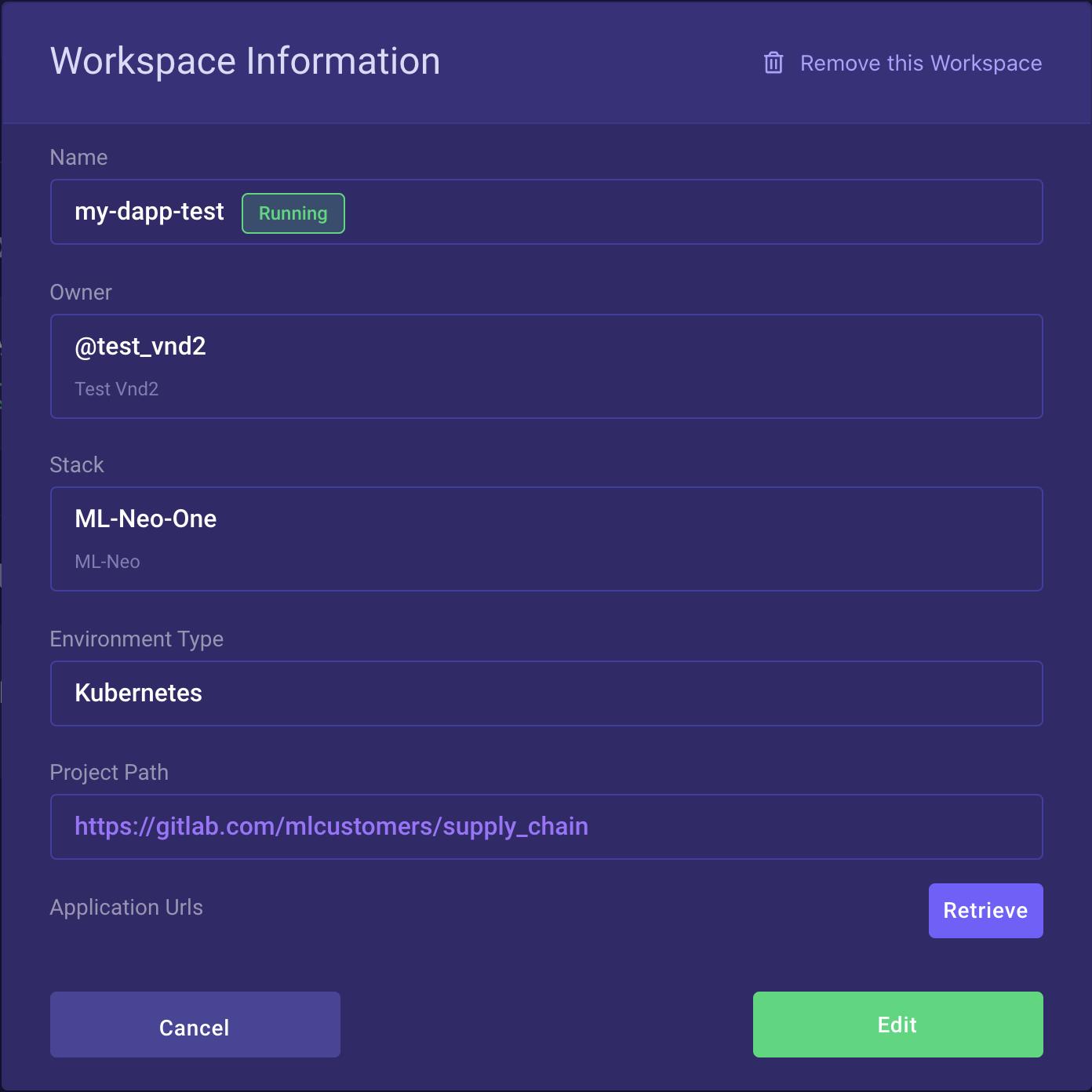 Workspace Info in V2.0