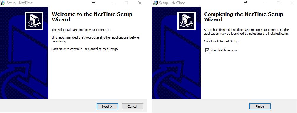 *Figure 3.2. NetTime installation.*