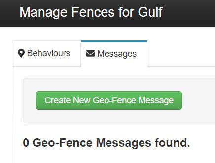 Send new Geo Fence message