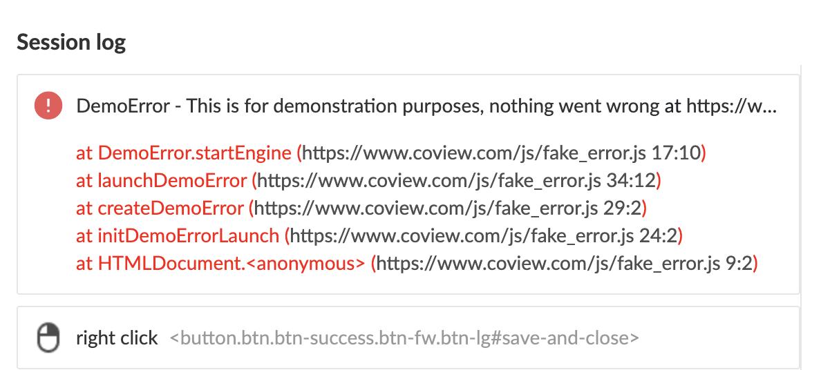 Error's stack trace.