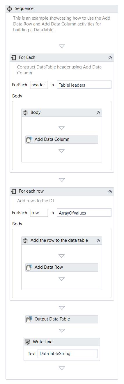 Add Data Row/Column