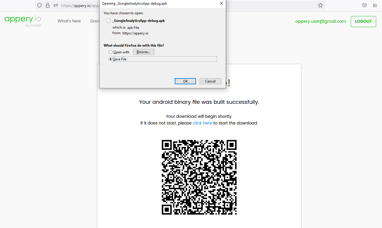 Android binary file built