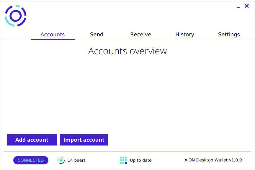 The Aion Desktop Wallet