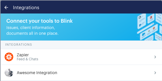 How the name appears in the list of integrations the user sees on the manage integrations page.