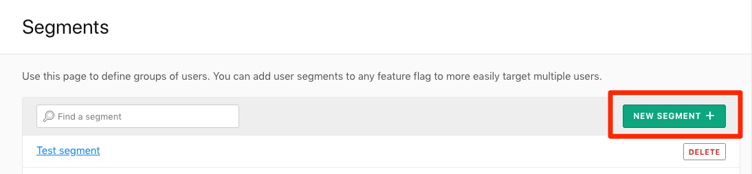 The Segments tab with the New Segment button called out.