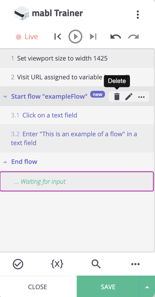 "After deleting the step ""Start flow 'Logout' "", steps within that flow are converted into primary steps."