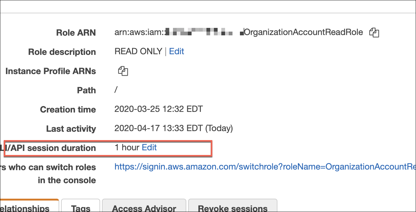 AWS Session Duration Example