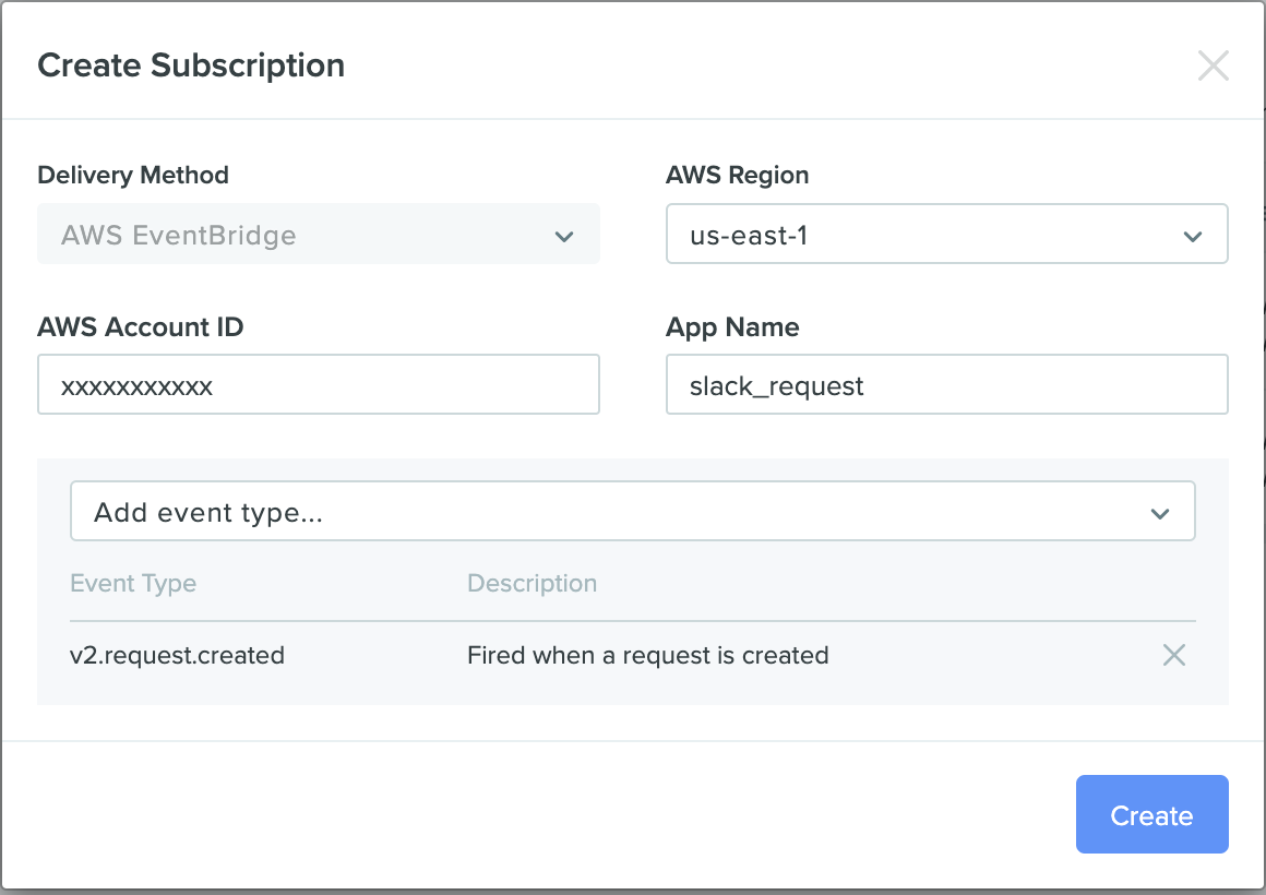 Create an Event Subscription in Benchling