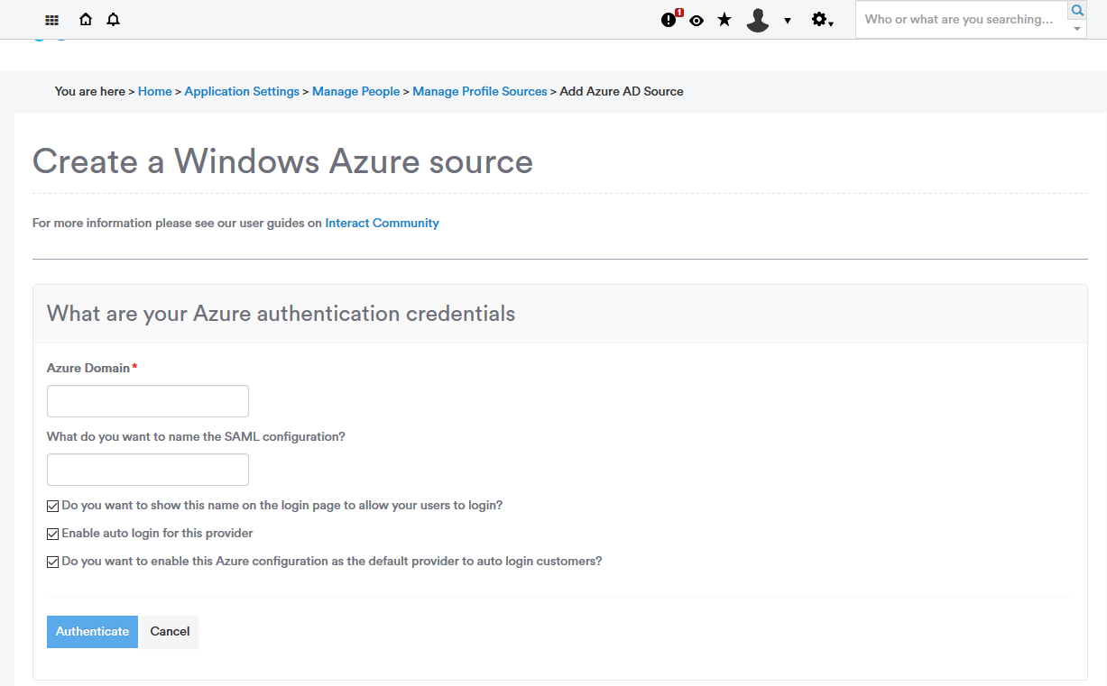 Azure Profile Source