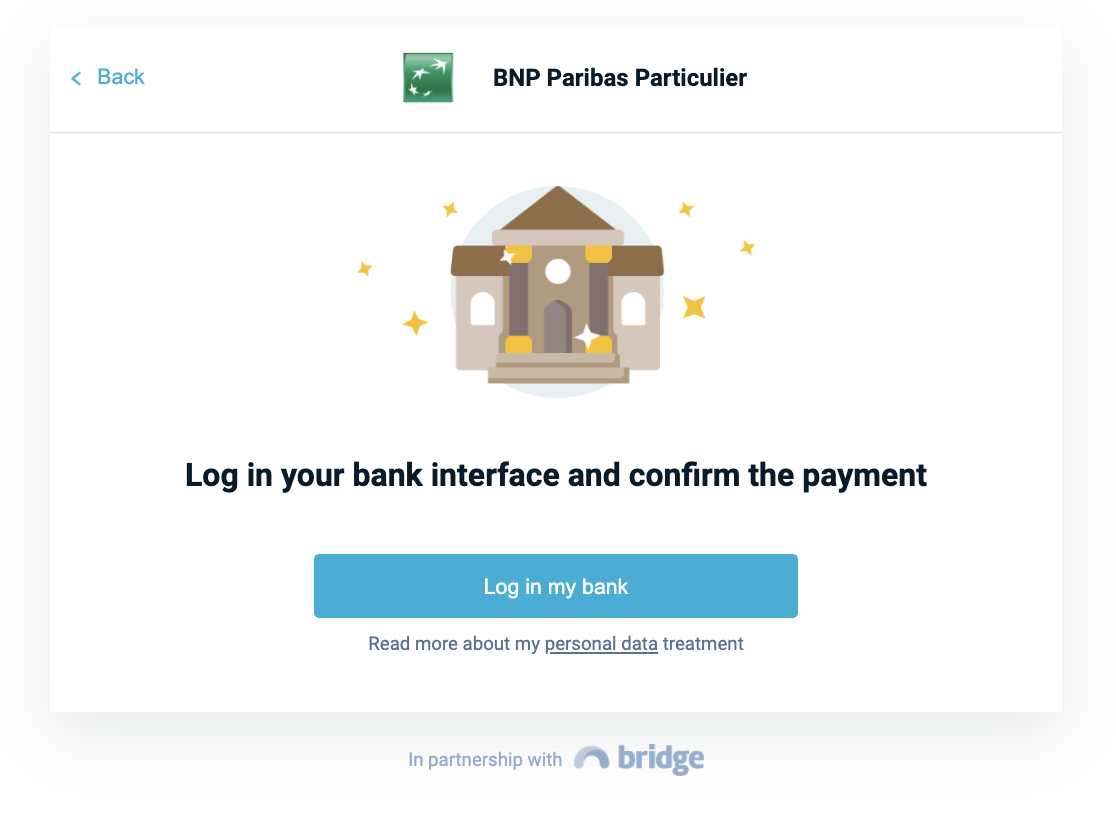 Bank redirection