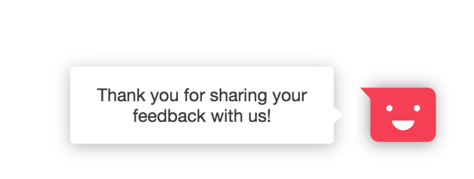 A customizable thankyou prompt completes the Incoming Feedback widget.