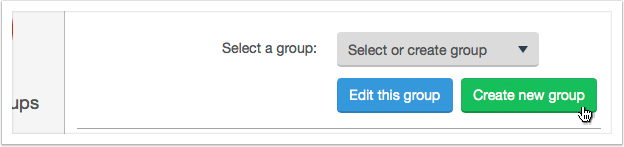 Click the 'Create new group' button