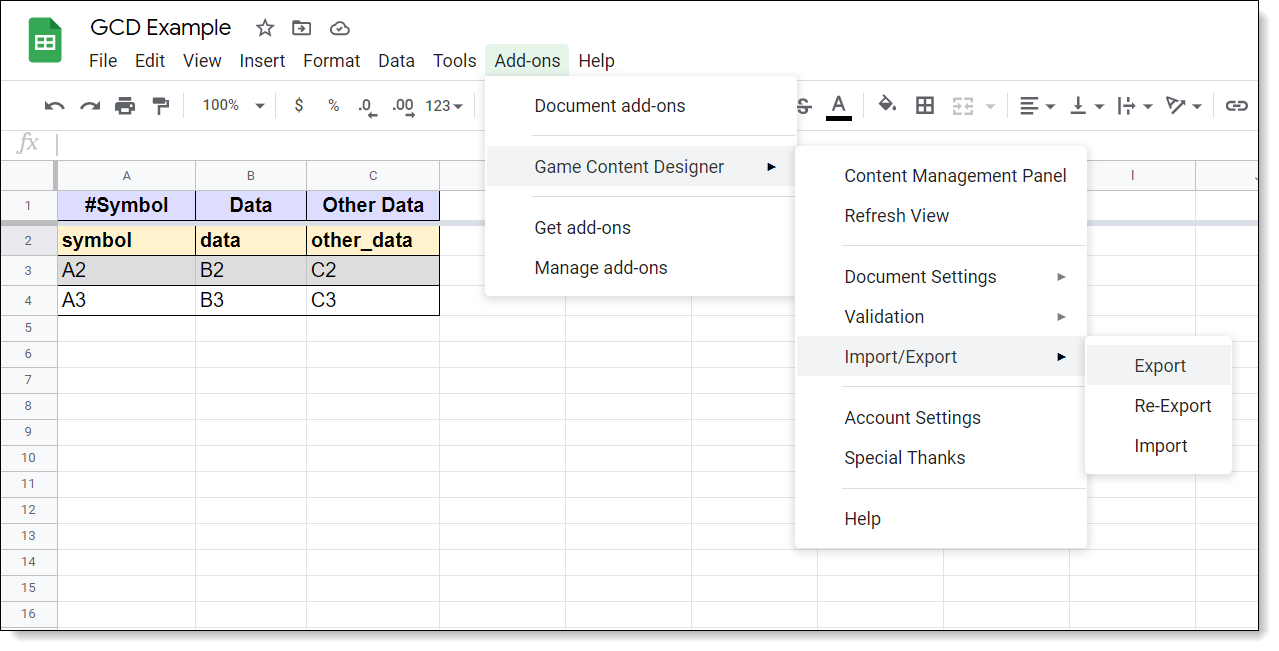 """The """"GCD"""" Google Sheets Add-On"""