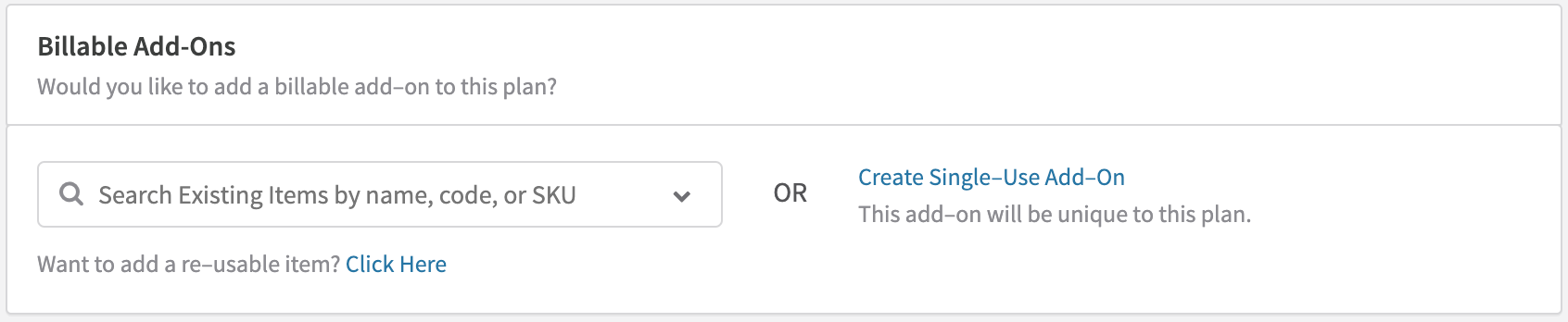 Creating a Recurring Item Add-On