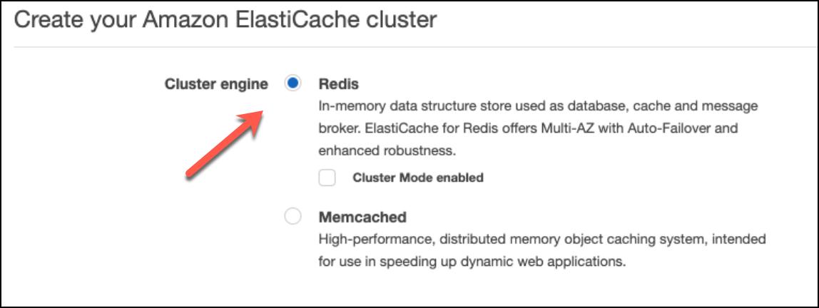 Redis Cluster Engine Option