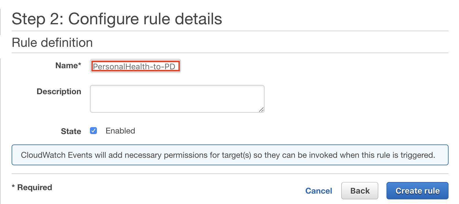 AWS Personal Health Dashboard Integration Guide | PagerDuty