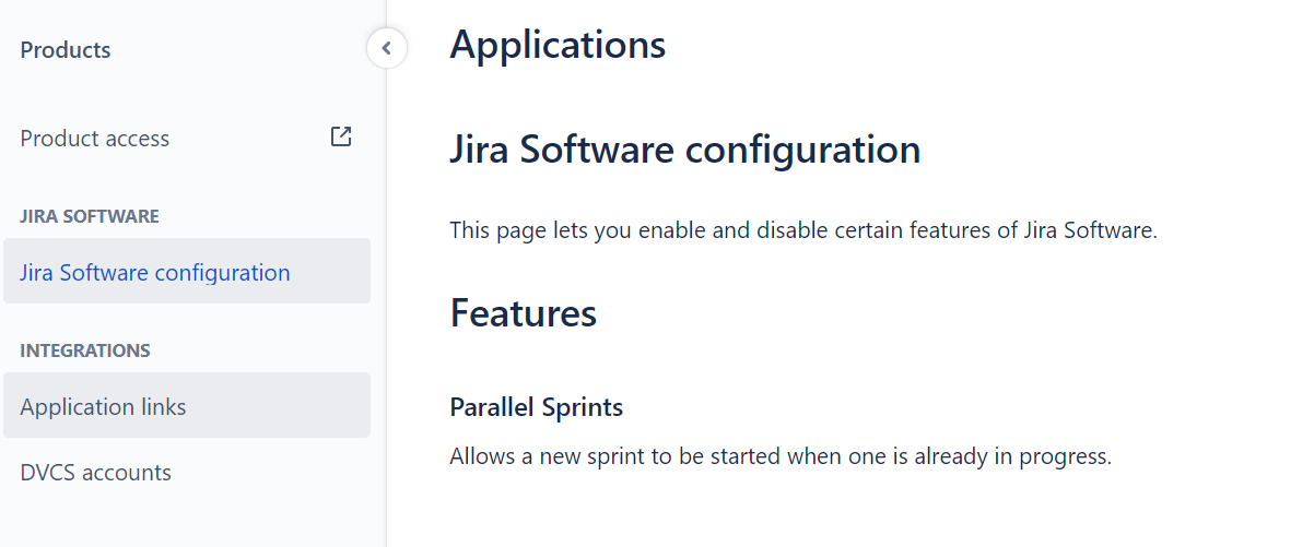 "Selecting ""Application links."""