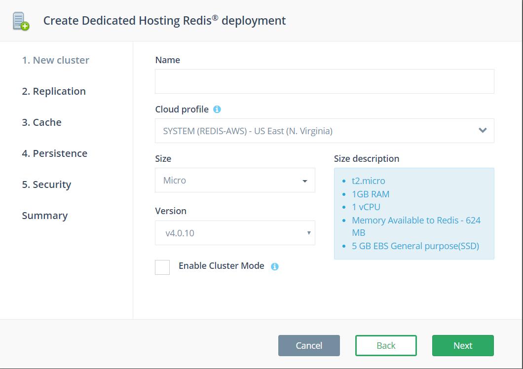 Create a new Redis™ deployment