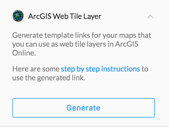 ArcGIS Online Web Tile Layer