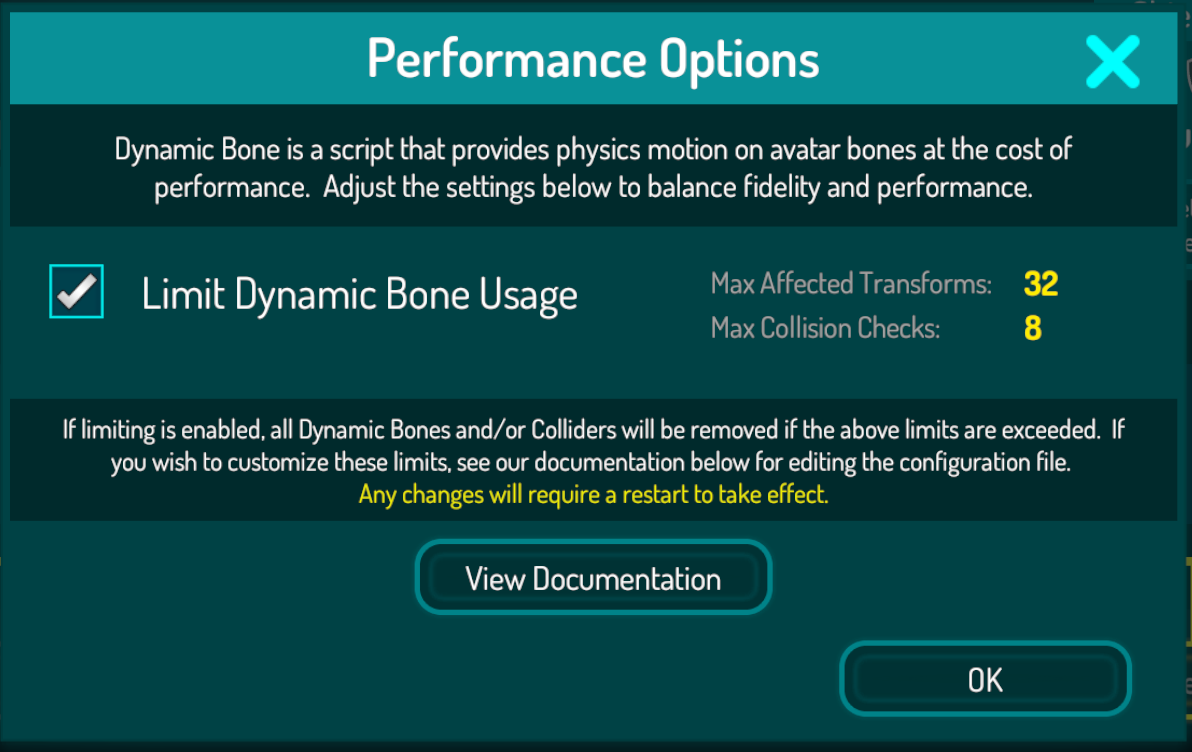 Avatar Dynamic Bone Limits