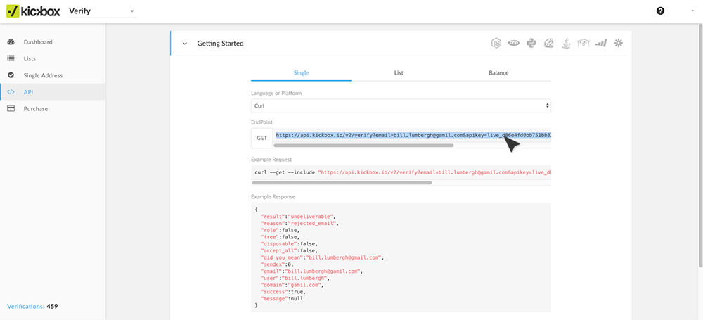 Now you need to create a Webhook for the Kickbox API, which can be done in  your Marketo account. Back in Marketo, on the left side menu under  Integrations, ...