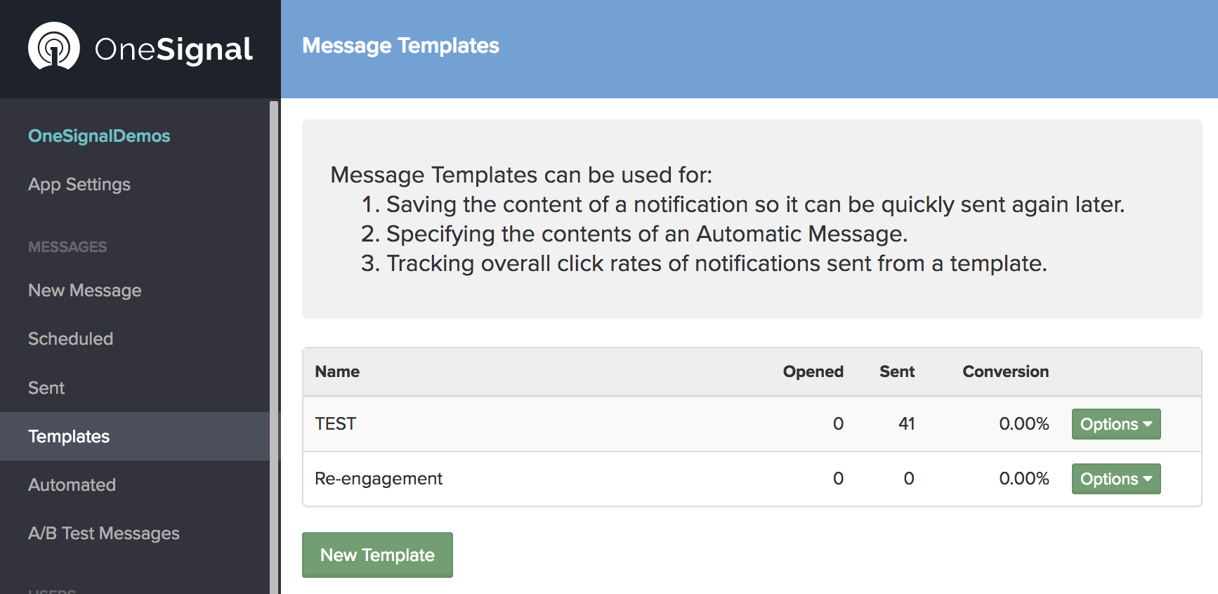 Onesignal push notification service documentation create templates xflitez Image collections