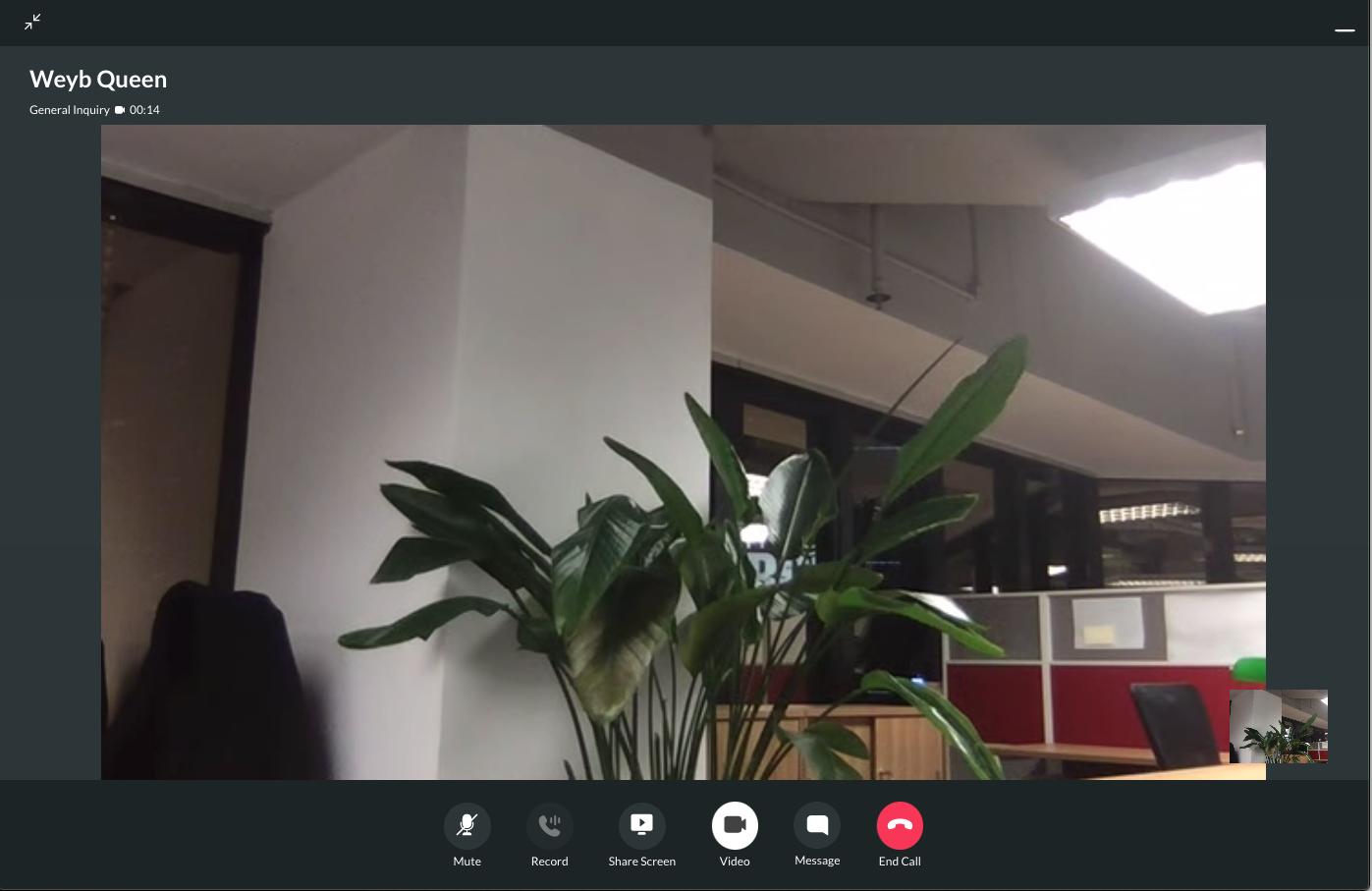 Staff Video Call Screen