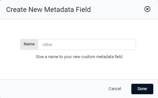 Create New Metadata Field