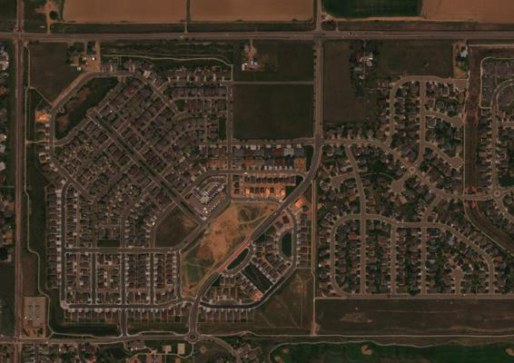 Before: WorldView 3 image before road detection.