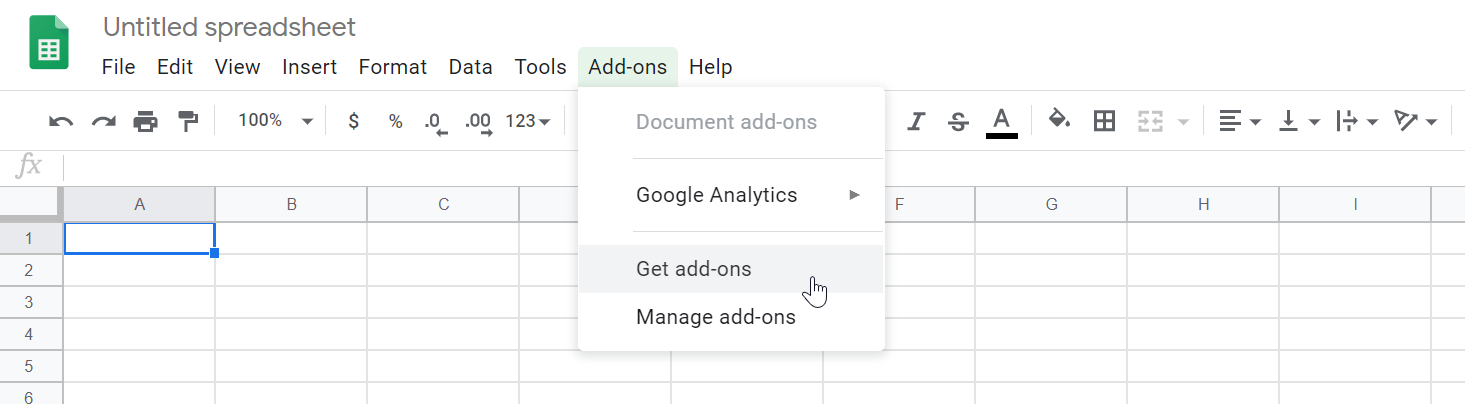 Get the add-on from Google Sheets