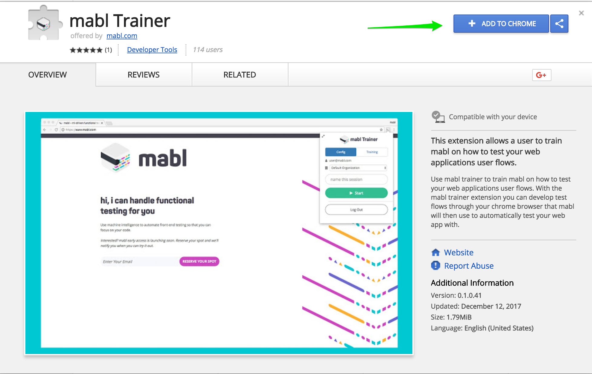 mabl Trainer in the Chrome web store.