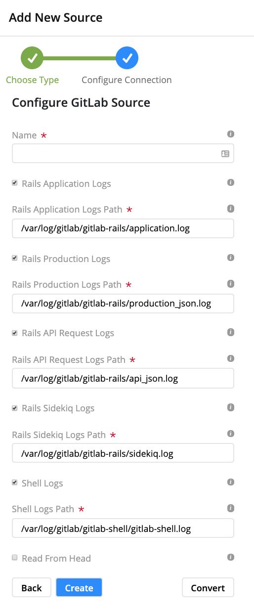 Gitlab Log Configuration Form