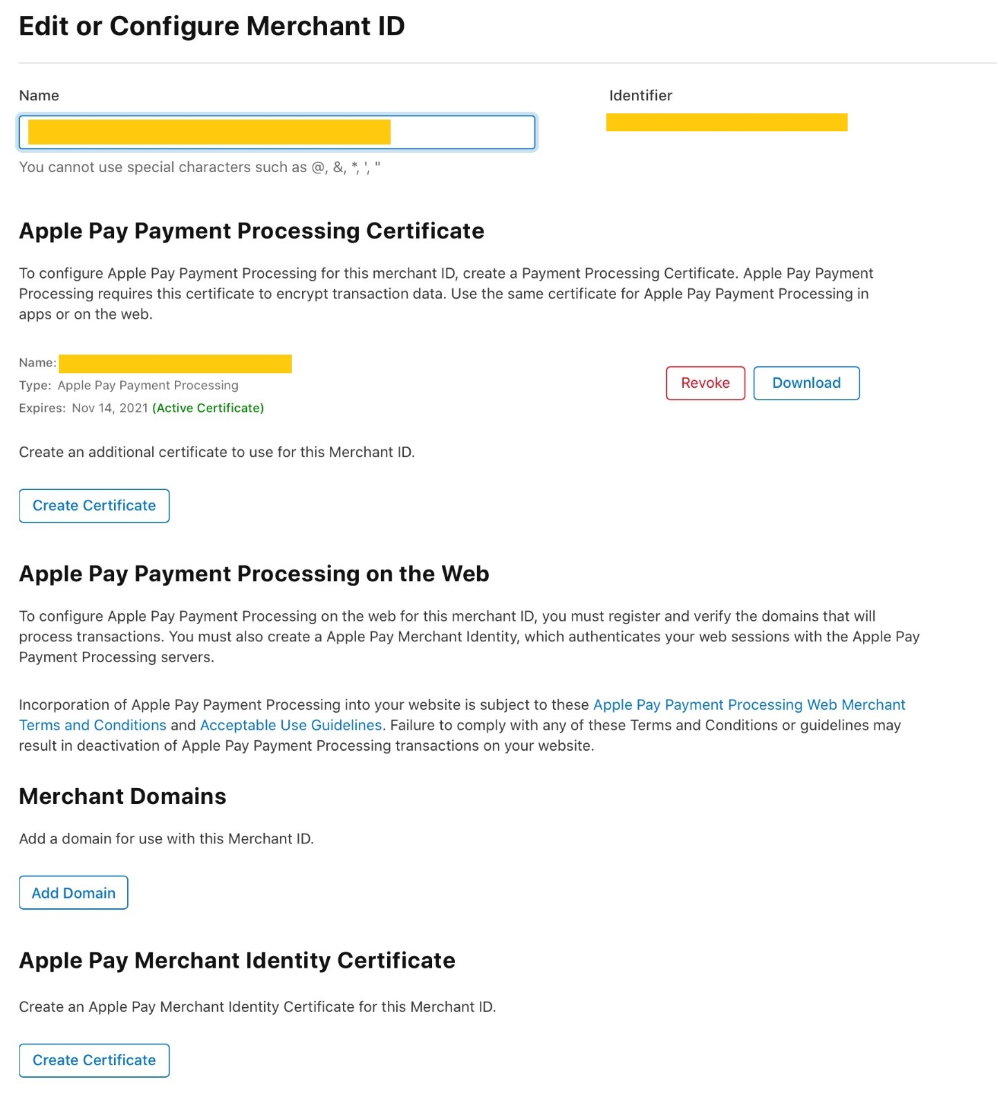 Configure your Merchant ID