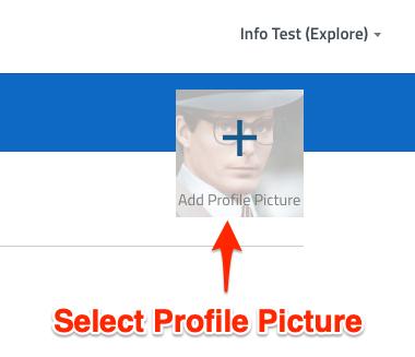 Select profile picture.