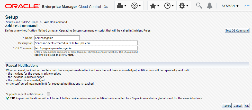 Oracle Enterprise Manager Integration