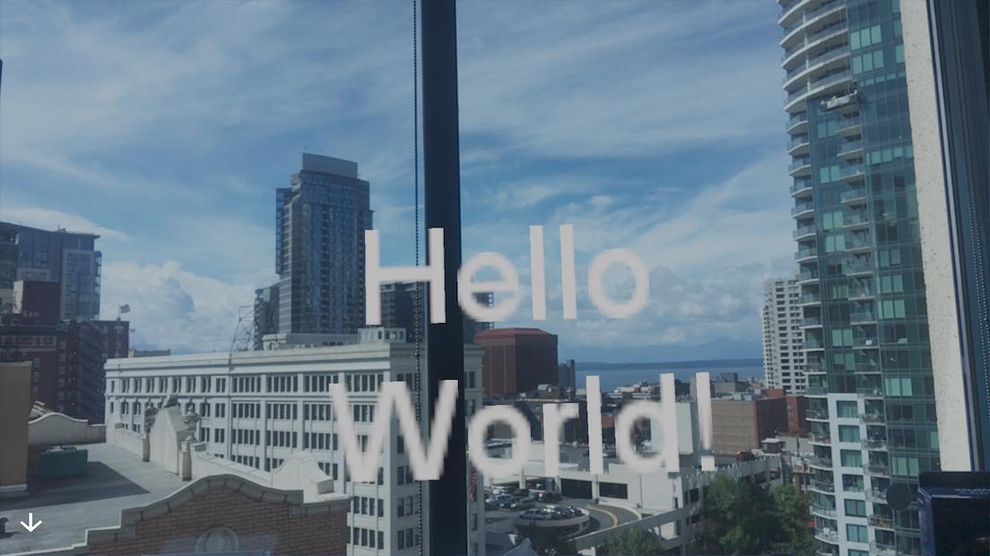 HelloWorldAR scene