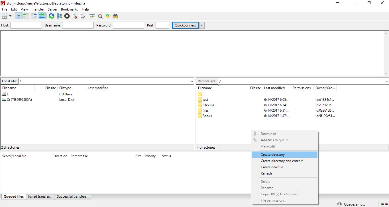 *Figure 5.1. Adding folders to Storj for uploading files.*