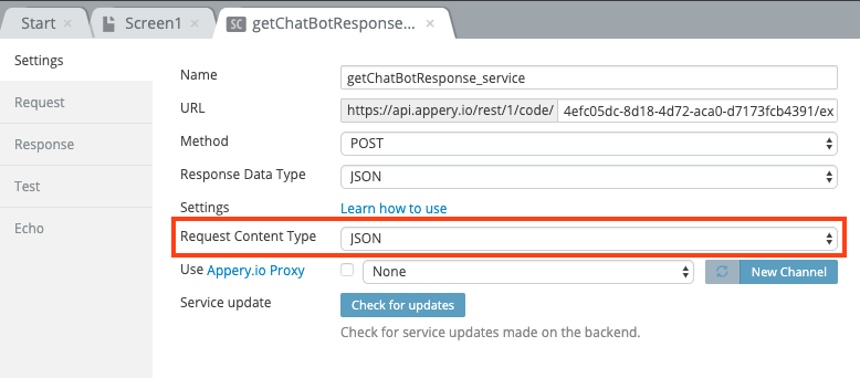 Request Content Type