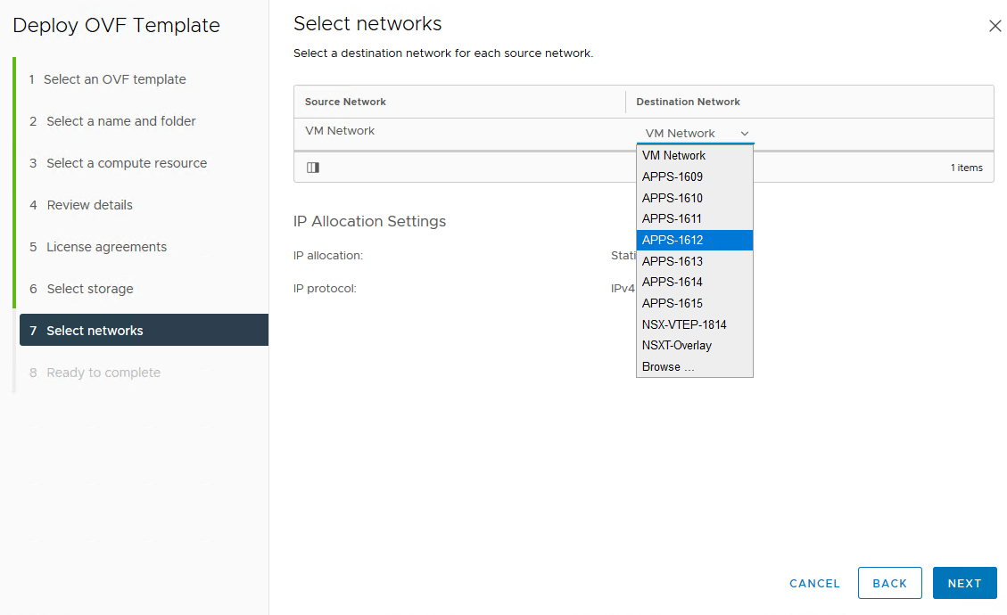 Select networks