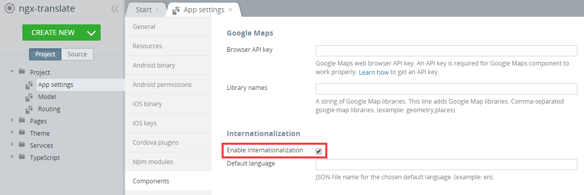 Internationalization enabled