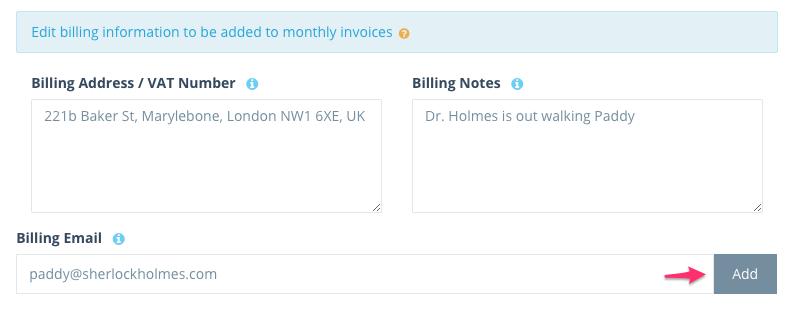 Step 2: Enter billing info
