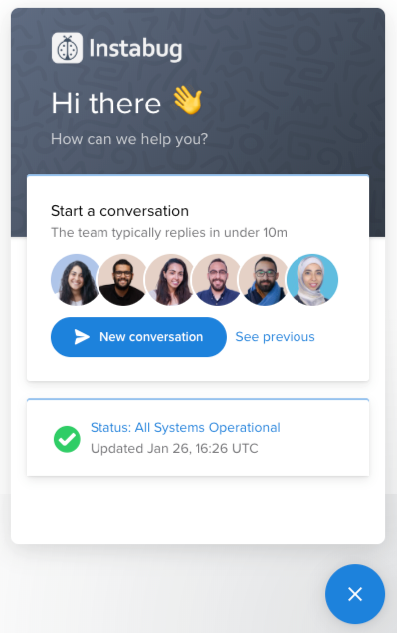 Start a new conversation with us.